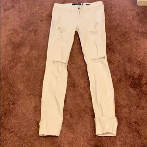 Hollister low rise super skinny jeans (0r)